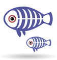 Funny X-ray fish on a white background vector image