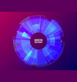 futuristic hud element circle technology concept vector image vector image