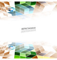 geometric background colorful triangles vector image