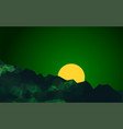 geometric mountains dark green landscape at vector image
