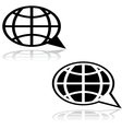 Global talk vector image vector image