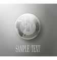 gray button with the globe concept vector image vector image