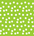 green background random scattered circle dots vector image vector image