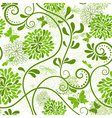 green seamless floral pattern vector image vector image