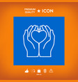 Hands holding heart - protection icon