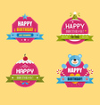 happy birthday labels collection vector image