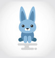 icon a cute rabbit in flat design vector image