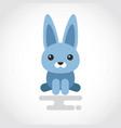icon a cute rabbit in flat design vector image vector image
