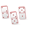 Icon game three dominoes vector image