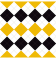 Lines Dots Yellow Black White Diamond vector image vector image
