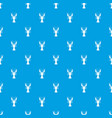 lobster pattern seamless blue vector image vector image