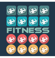 man and woman of fitness silhouette character flat vector image vector image