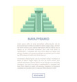 maya pyramid web page text vector image