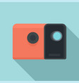 media film projector icon flat style vector image vector image