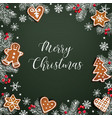 merry christmas greeting card invitation vector image