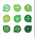 modern badges green collection vector image vector image