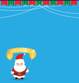 New year background with santa claus vector image vector image