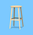 ocher wooden bar stools with seats isolated on vector image vector image