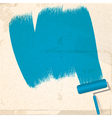 Paint and roller background vector image
