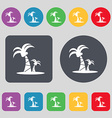Paml icon sign A set of 12 colored buttons Flat