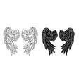 polygonal folded wings vector image