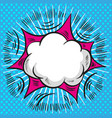 pop art comic speech cloud background vector image vector image