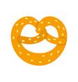 pretzel icon flat style vector image vector image