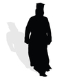 priest silhouette vector image