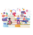 read books concept education school study and vector image