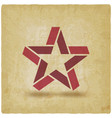 red star symbol vintage background vector image vector image