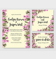 rustic wedding set with pink wax flowers vector image