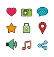 set of social media icons isolated icon design vector image