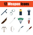 set of weapon icons vector image vector image