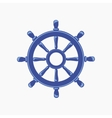 Ship Wheel Banner isolated on white background vector image vector image