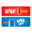 soda cans banners set advertising banners layout vector image vector image