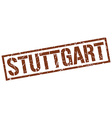 Stuttgart brown square stamp vector image vector image
