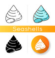 top shell icon vector image vector image