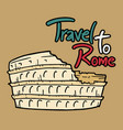 travel to rome message vector image vector image