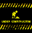 Under construction - grunge with icon vector image vector image