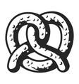 vintage pretzel template vector image