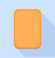 wheat cookie icon flat style vector image