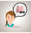 woman clothes closet vector image
