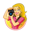 Woman Photographer vector image