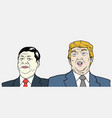 xi jinping and donald trump vector image vector image