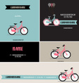 Business card with bicycle template vector image