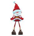 cartoon santa claus christmas with a vector image