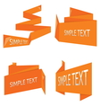 Origami banner collection vector image