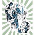 rock band poster vector image