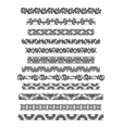 Thai ornament border patterns with thai vector image