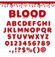 bloody latin alphabet vector image